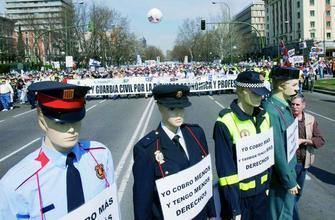 manifestacion de policias nacionales