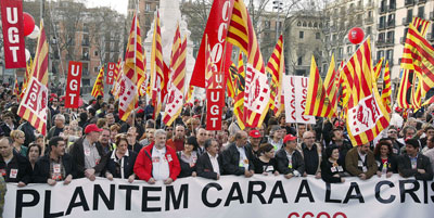 manifestacion contra la crisis